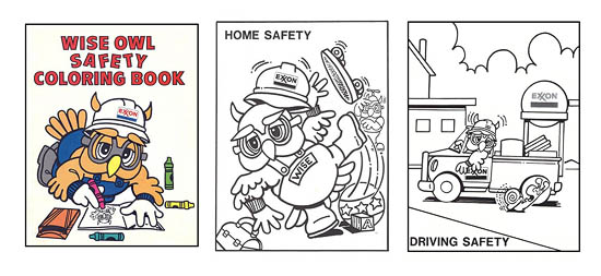 Exxon Coloring Book Page Samples
